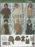 4781 Sewing Pattern Ladies One Hour Poncho Hat Scarf Purse XS-S-M or L-XL