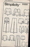 *5355 Sew Pattern Junior Teen Girls Cargo Pants Vest Skirt Top 11/12 13/14 15/16