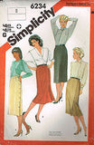 6234 Vintage Sewing Pattern Ladies Skirt with Variations 8