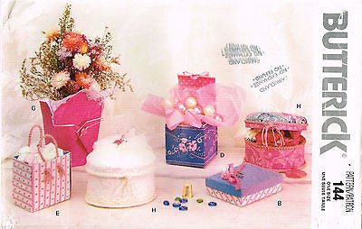 *0144 / 5019 Sewing Pattern Vintage Butterick Fabric Decorative Box Boxes +