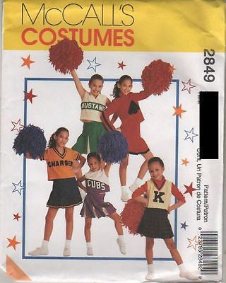 *2849 Sewing Pattern McCall's Costume Girls Cheer Leader Outfit 5-6 or 12-14