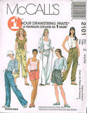 *2101 Sewing Pattern McCall's Ladies Loose Fitting Pants and Shorts Choose Sizes