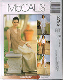 *2795 Pattern McCall's Ladies Pull on Pants Bias Skirt Jacket Blouse 6-8-10 or 12-14-16