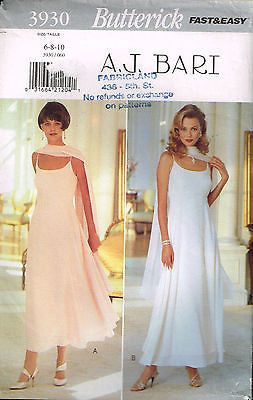 3930 Sewing Pattern Butterick Wedding Bridal Dancewear Grad Prom Dress 6 8 10
