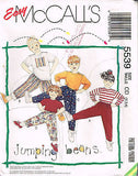 "5539 Sewing Pattern McCall's Unisex Kids ""Jumping Beans"" Pants Top 2 3 4"