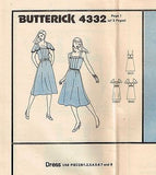 4332 Pattern Vintage Ladies Summer Dress Square Neck Choose size 8 or10 or12or14