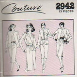 *2942 Sew Pattern Vintage Style Cross Front Blouse Jacket Skirt choose 16 or 18
