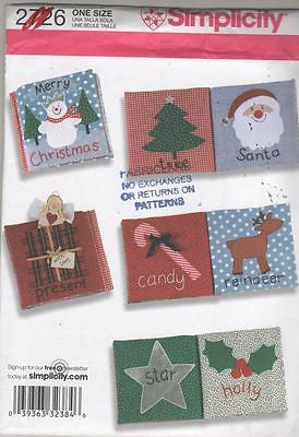 *2726 Sewing Pattern Cloth Christmas Book