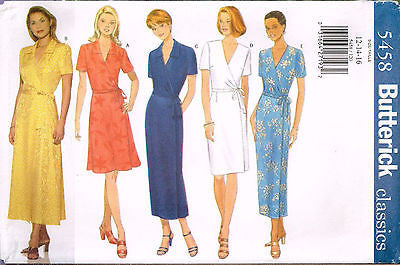 *5458 Sewing Pattern Wrap Dress 12 14 16