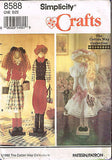 "8588 Sewing Pattern ""Cotton Way"" 22"" Dowel doll Dolls & Clothes"