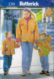 "*0220 / 5733 Sewing Pattern Family and Me Jacket by ""Thread Bare"" Ladies & Child +"