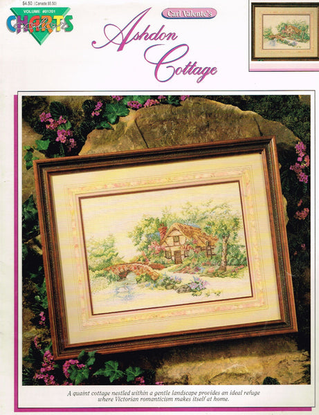 "*01201 Cross Stitch Pattern ""Ashdon Cottage""  Victorian Cottage"