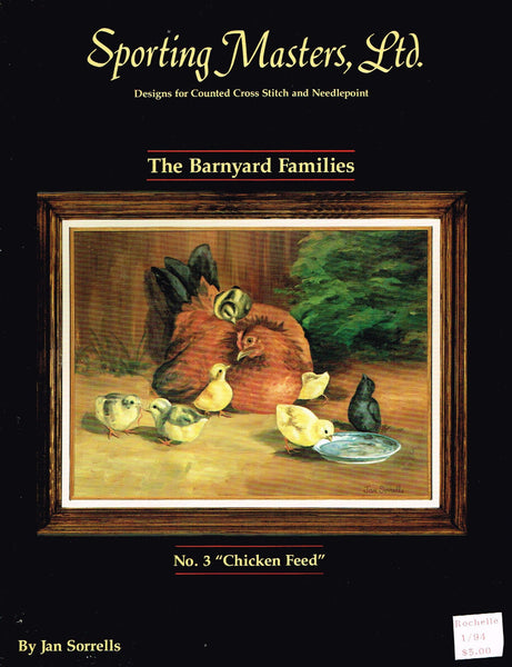 "*194 Cross Stitch Pattern ""Chicken Feed"" Chicken Chick Hen"