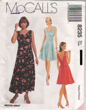 8235 Pattern McCall's Ladies Princess Seam Low Back Dress 8-10-12 or 10-12-14