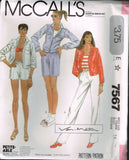 "7567 Sewing Pattern Vintage McCall's Ladies ""Van-Martin"" Jacket & Pants 10 or 14"