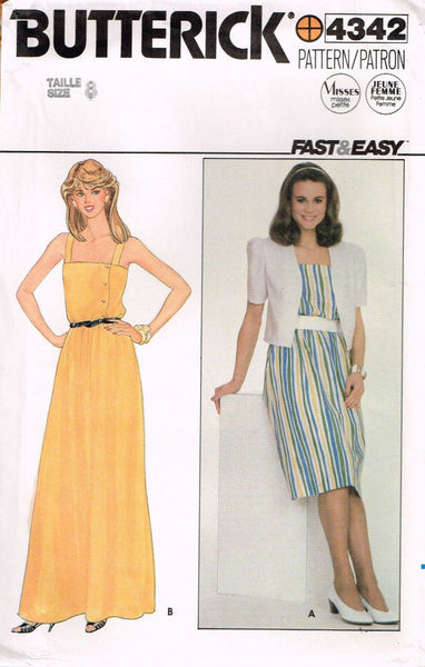 4342 Pattern Vintage Butterick Ladies Dress choose size 8 or 10 or 12 or 14