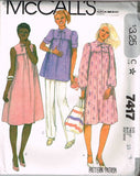 7417 Sewing Pattern Vintage McCall's Maternity Dress Smock  choose size 10 or 12