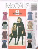 9534 Sewing Pattern Girls Dress with Variations choose sizes 4-5-6 or 7-8-10