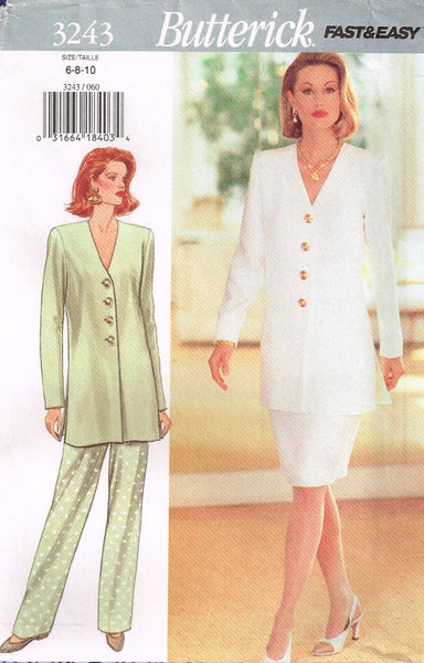 3243 Sewing Pattern Butterick Ladies Tunic Top Skirt Pants 6-8-10 or 12-14-16