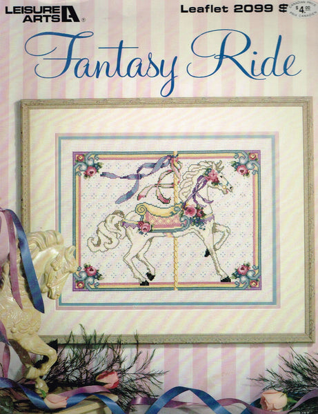 "*2099 Cross Stitch Pattern ""Fantasy Ride"" Carousel Horse"