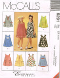 9291 Sewing Pattern McCall's Girls Flared Dress Choose sizes 2-3-4 or 4-5-6