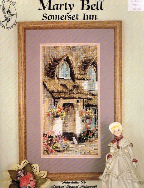 "*793 Cross Stitch Pattern ""Somerset Inn""  Victorian Cottage"