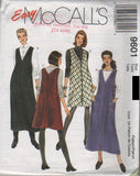 9601 Sewing Pattern McCall's Ladies Jumper Dress 4-6-8 or 8-10-12