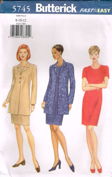 *5745 Sewing Pattern Butterick Ladies Dress and Jacket choose 8-10-12 or 14-16-18