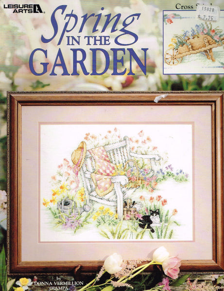 "*15828 Cross Stitch Pattern ""Spring in the Garden""  Garden Pictures"