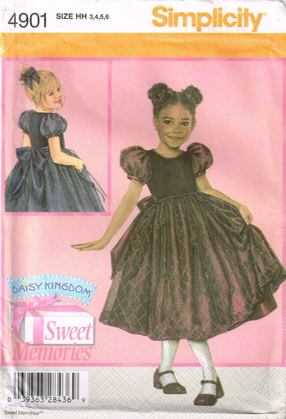 4901 Pattern Girls Daisy Kingdom Sweet Memories Wedding Bridal 3-4-5-6 or 7-14