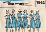 7562 SewPattern Vintage McCall's Ladies Dress w/ Variations size 10