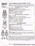 "9642 Sewing Pattern Bunny Rabbits 15"" & 10"" and Pom Pom Ornaments"