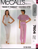 7604 Sewing Pattern Vintage McCall's Ladies Halter Top Top Pants 10 or 12