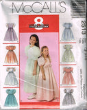 *2513 *Pattern Girls' Wedding Bridal Gown Dress Veils 3-4-5 or 4-5-6 or 7-8-10