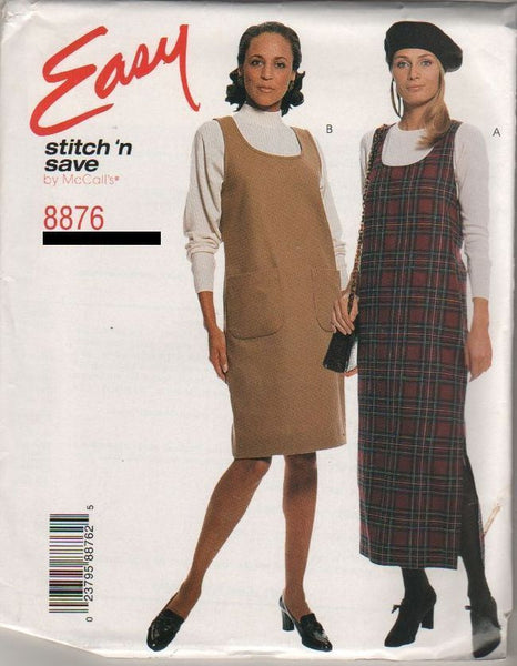 8876 Sewing Pattern McCall's Ladies Jumper Dress Choose 4-6-8-10 or 12-14-16-18