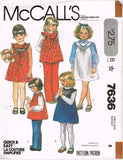 7636 Sew Pattern Vintage McCall's Girls Dress Jumper Tunic Top choose 3 or 4