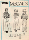 *7297 Sewing Pattern Vintage McCall's Boys Jeans Pants Vest Shirt choose 4 or 6