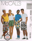 "8934 Sewing Pattern Unisex Shorts Small 34 1/2"" - 36"" Hip or Medium 38""-40"" Hip"