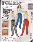 *5482 Pattern Ladies Palmer Pletsch Perfect Pull on Pants choose size 10 or 12