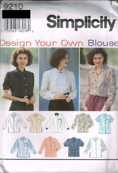 9210 Sewing Pattern Ladies Shirt Blouse Variations choose 8-10-12 or 14-16-18