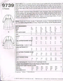 9739 Sewing Pattern Girls Dress 3 4 5 6