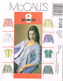 *2128 Sew Pattern Ladies Cardigan and Top Twin Set XS(4-6) or S(8-10)