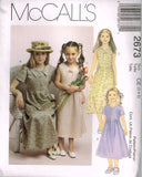 *2673 Sewing Pattern Girls Summer Dress with Front Tucks 3-4-5