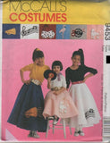 9453 Pattern Costume Girls Petticoat Circle Skirt Applique 1950'  7-8 or 10-12