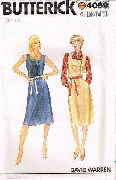 *4069 Sewing Pattern Vintage Butterick Ladies Jumper Dress  size 10 *
