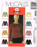 *2886 Sewing Pattern McCall's Ladies Unique Top (8-10) or (12-14) or (16-18)