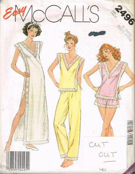 *2496 Sewing Pattern Vintage McCall's Ladies Lingerie 6 *CUT OUT*