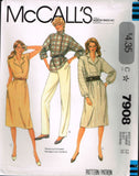 7908 Sewing Pattern Vintage McCall's Ladies Dress with Placket 10 or 12