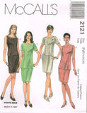 *2121 Sew Pattern McCall's Princess Seam Top & Skirt choose 8-10-12 or 18-20-22