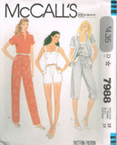 *7988 Pattern Vintage McCall's Ladies Camisole Shirt Shorts Pants 10 or 12